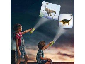 dino dinosaur baterka projektor projector
