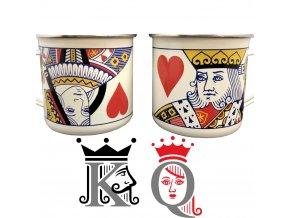 plechacek plechovz hrnek pro par partnerz yamilovane kartz hrace milovnikz karet dama kral king queen