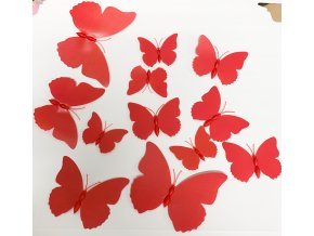 12pcs Multicolor Double Layer Wings 3D Butterfly Wall Sticker Magnet PVC Butterflies Party Kids Bedroom Fridge.jpg 640x640