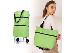 nákupní taška na kolečkách s kolečky na nákup potraviny vozíček taška kolečka