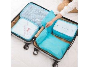 cestovní organizéry do kufru do letadla package 6 sada šesti kusů pořádek v kufru organizace přehledný kufr dovolená