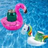 plamenak drzak na napoje na plechovky do bazenu leto letni nafukovaci nafukovacka flamingo floating holder can drink pool summer unicorn jednorozec