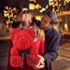 pedvidek z růží teddy bear foam roses dog pejsek z růží v boxu v dárkovém dárkové krabičce luxusní medvídek z růží instagram photo skladem levně zdarma brno eshop vaše nebe vašenebe