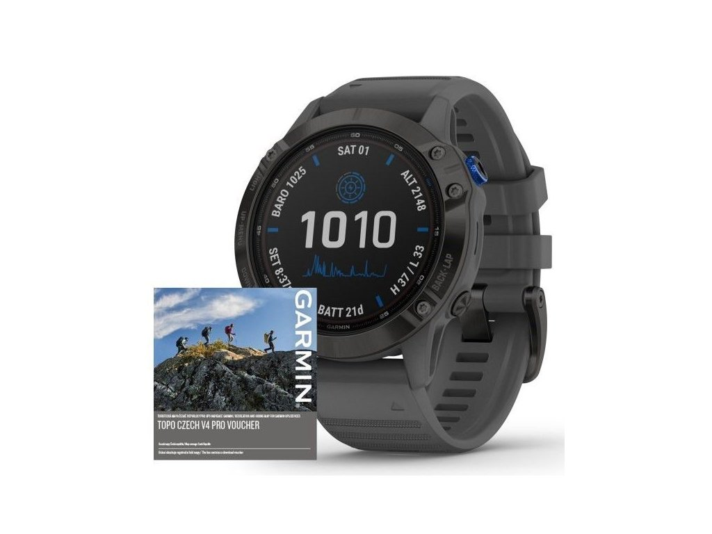 87 garmin fenix6 pro solar black slate band map music