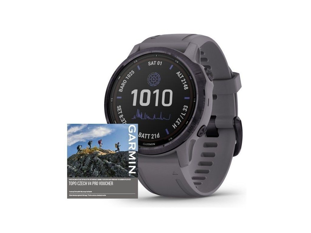 81 garmin fenix6s pro solar amethyst shale band map music
