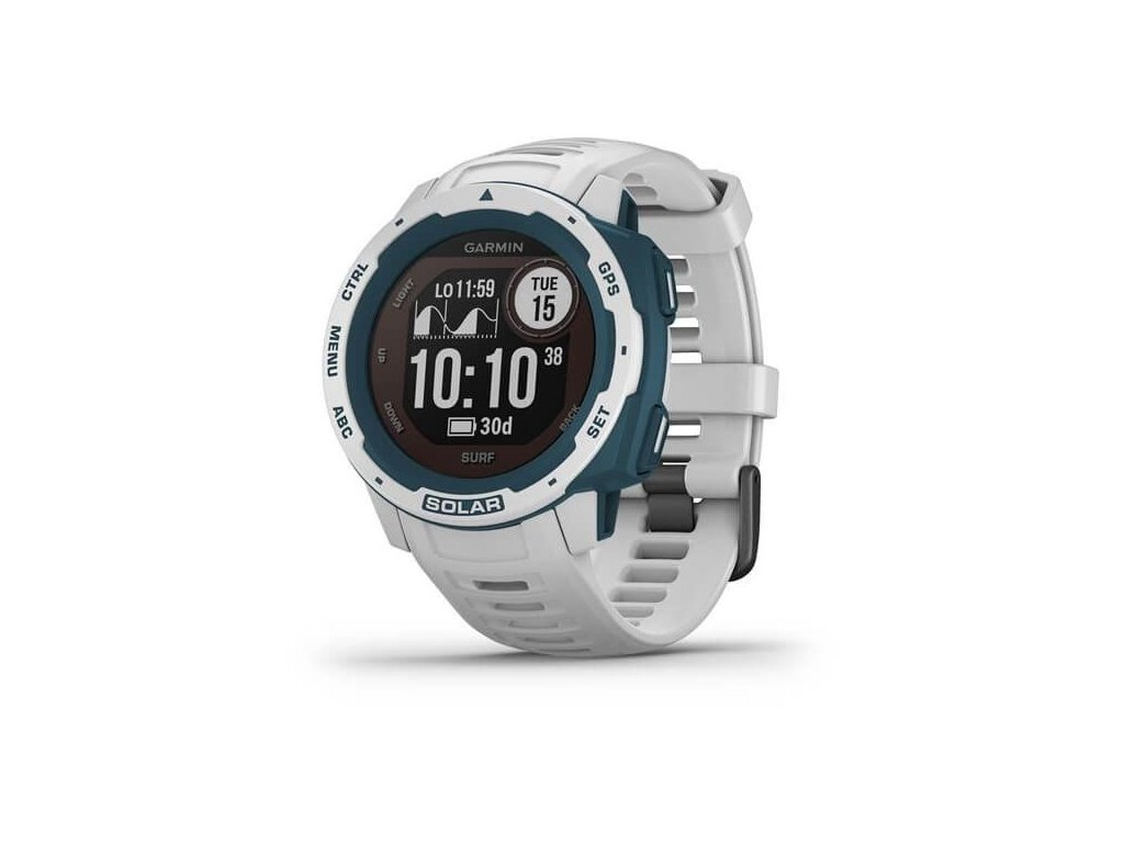 378 garmin instinct solar surf white optic