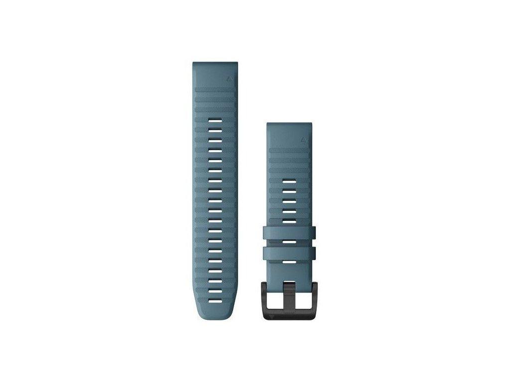 471 reminek pro fenix6 quickfit 22 silikonovy modry cerna prezka