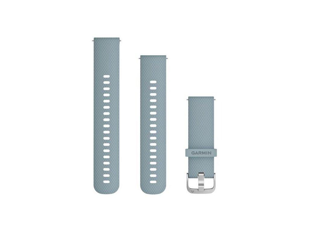 696 reminek quick release 20mm silikonovy sedomodry stribrna prezka