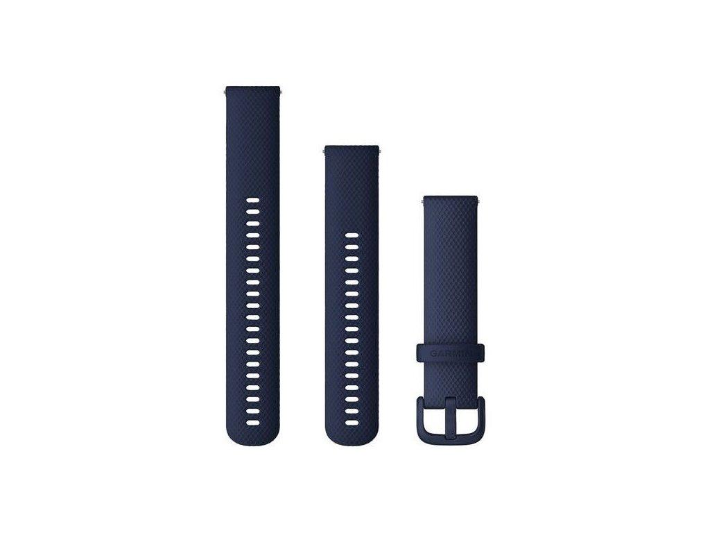 4413 reminek quick release 20mm silikonovy tmave modry plastova prezka