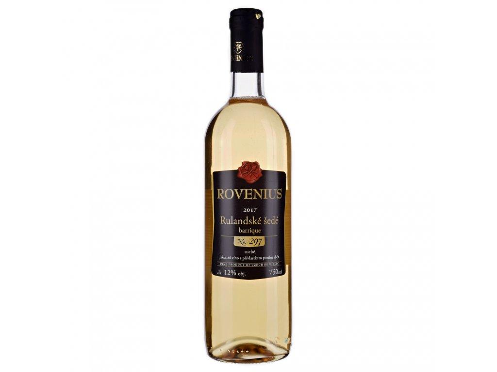 Rulandské šedé pozdní sběr barrique 2017 - 0,75 l - vinařství Rovenius