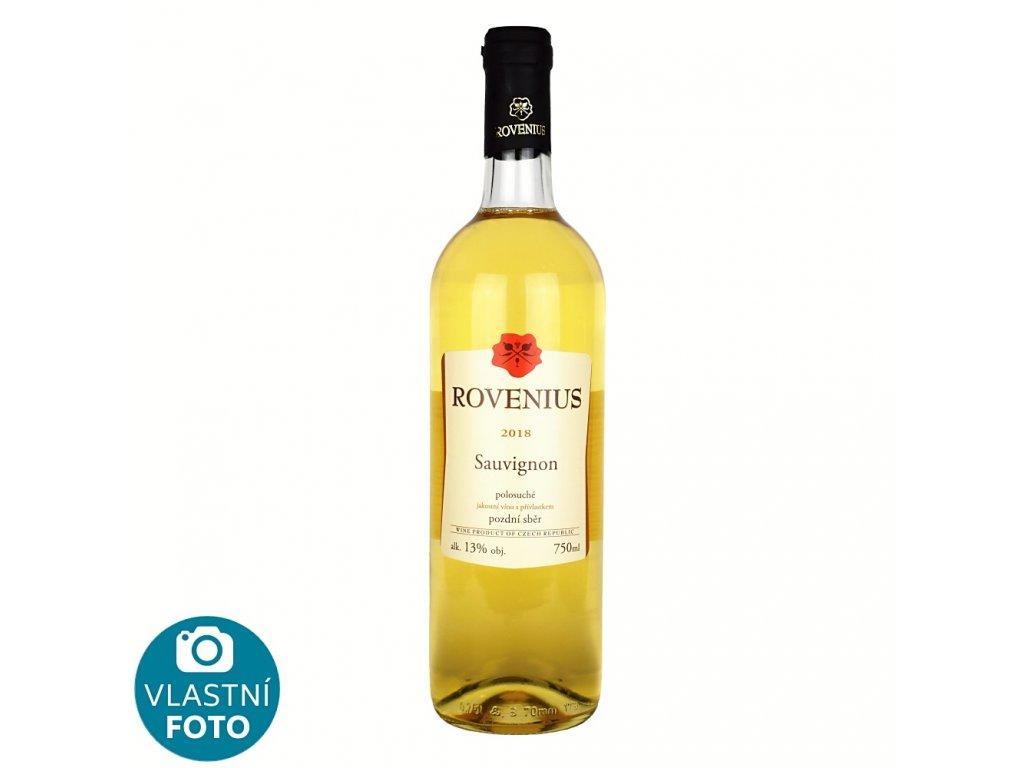 Sauvignon pozdní sběr 2018 - 0,75 l - polosuché - vinařství Rovenius