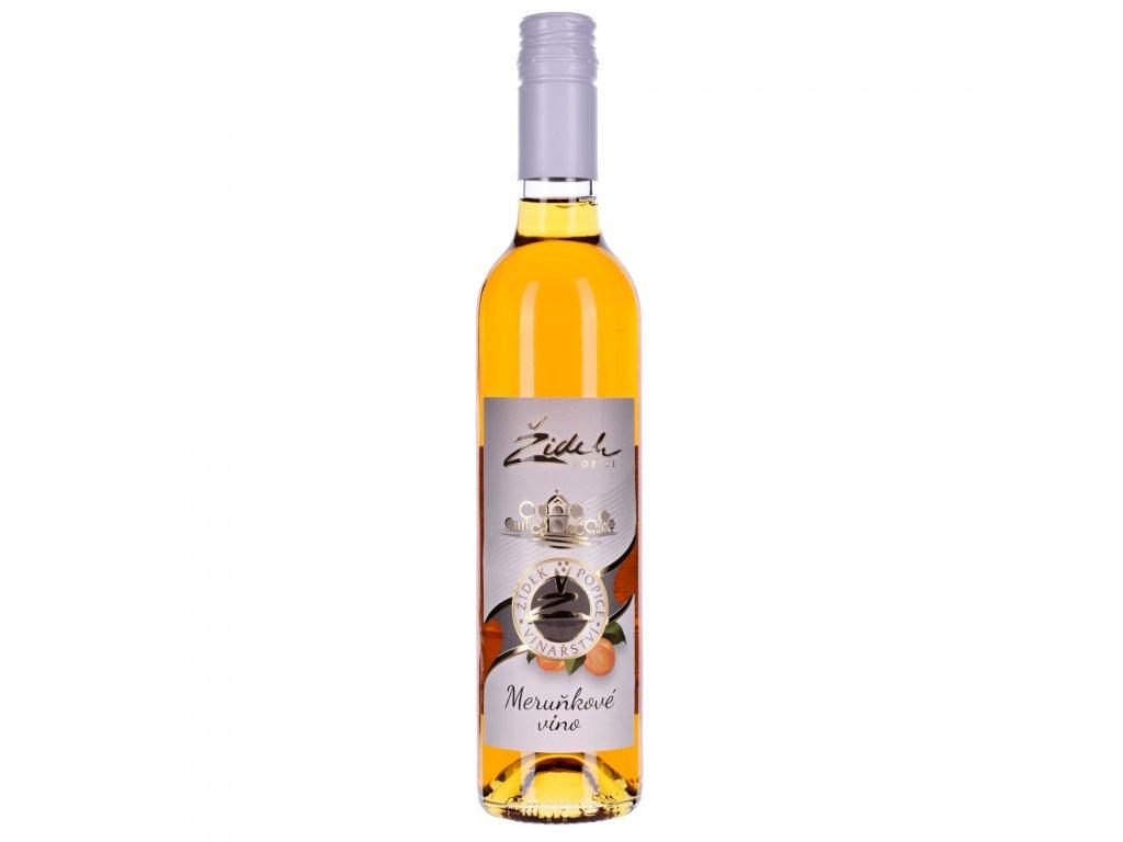 Meruňkové víno 2019 - 0,5 l - polosladké - vinařství Žídek