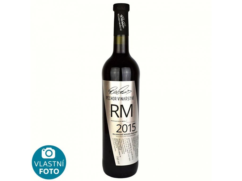Rulandské modré Výběr z bobulí 2015 - polosuché - 0,75 l - vinařství Pechor