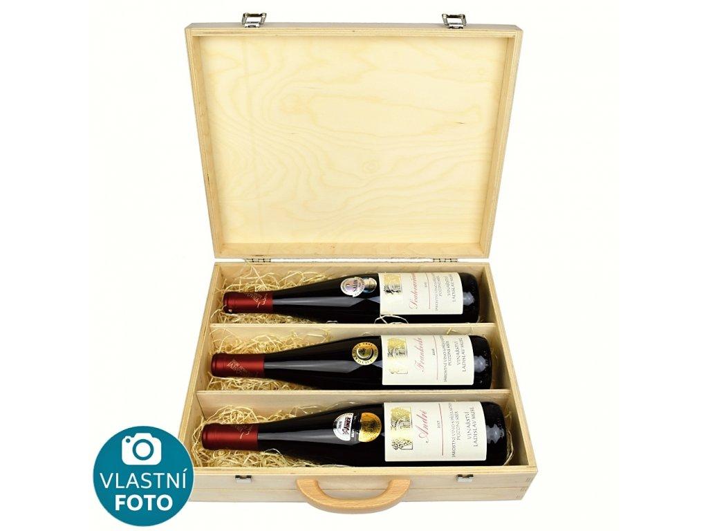Kolekce 3 medailových vín z vinařství Musil v dárkovém dřevěném kufru - Ladislav Musil