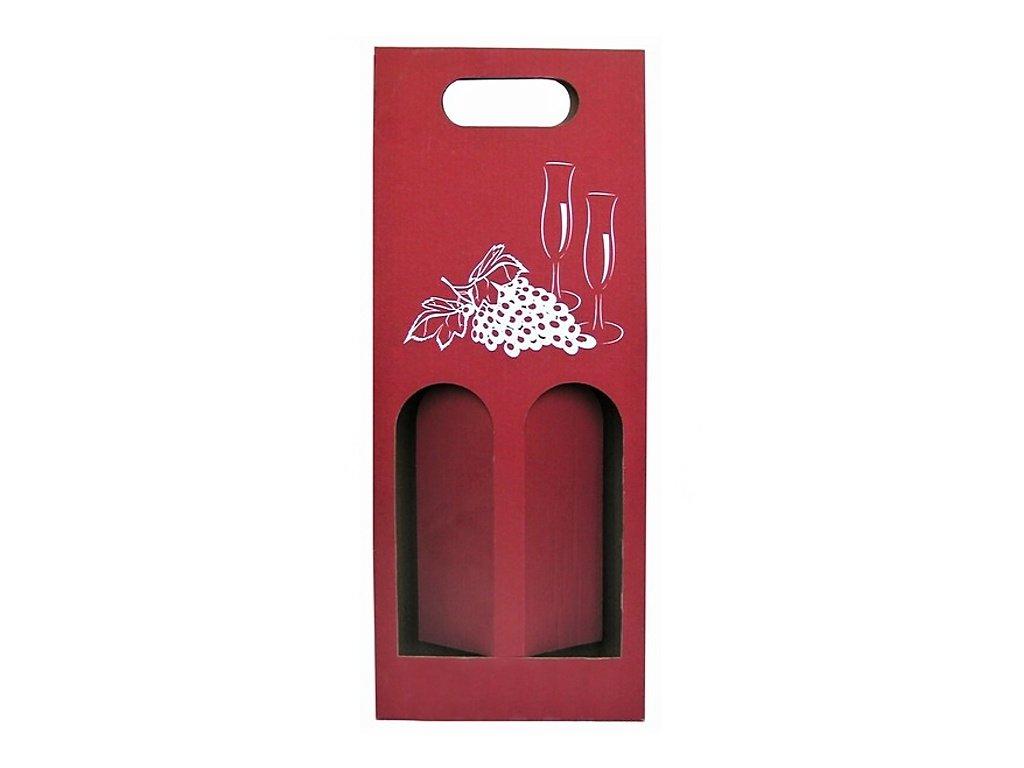 papirovy obal na vino cerveny