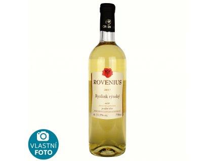 Ryzlink rýnský pozdní sběr 2017 - 0,75 l - vinařství Rovenius