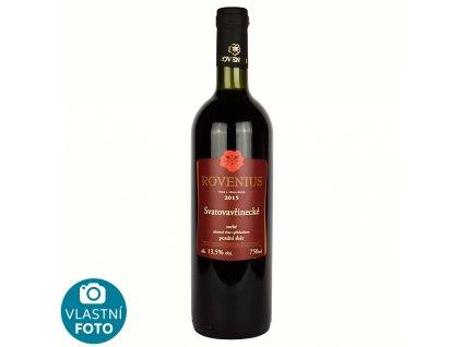 Svatovavřinecké pozdní sběr 2015 - 0,75 l - vinařství Rovenius
