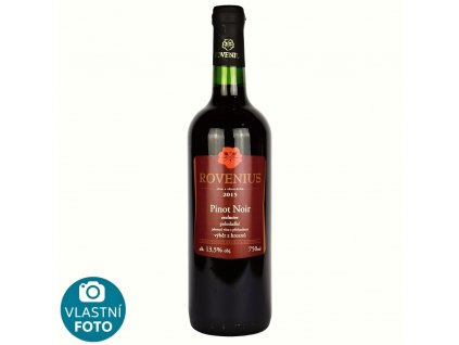 Pinot Noir výběr z hroznů 2015 - exclusive - 0,75 l - polosladké - vinařství Rovenius