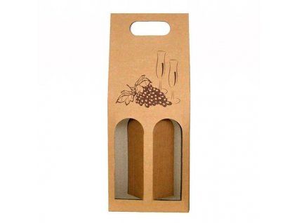 papirovy obal na 2 vina prirodni