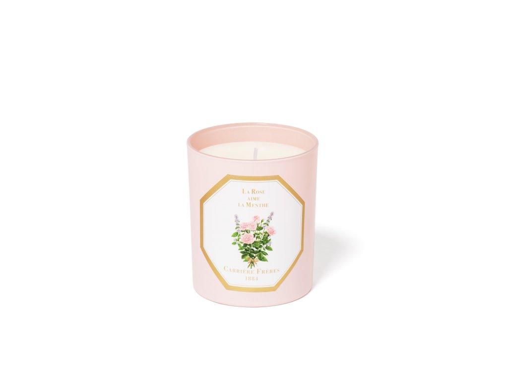 Carrière Frères La Rose aime la Menthe candle Low Res
