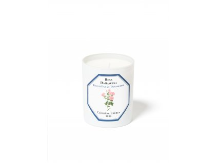 Carrière Frères Damask Rose candle HD