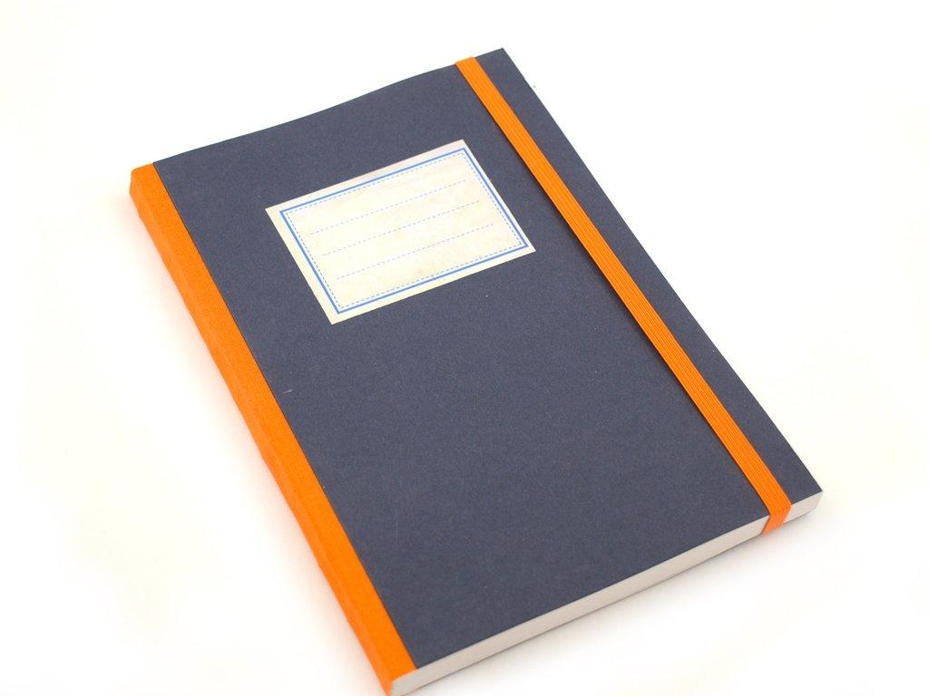 Stará škola, modrý, zápisník, <A5
