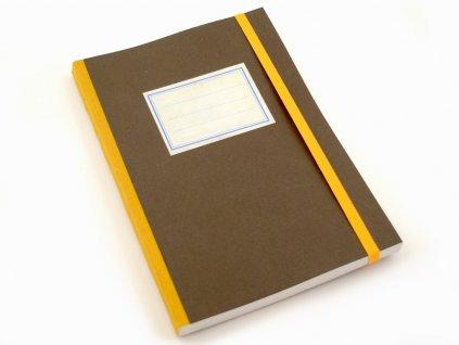 Stará škola, hnědý, zápisník, <A5