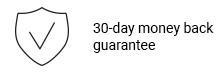 3O-day money back guarantee