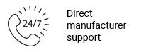 Direct manufacturer support