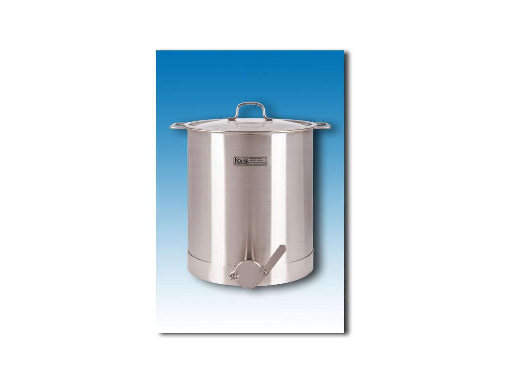 Nerezová stáčecí nádoba s poklicí 30 litrů