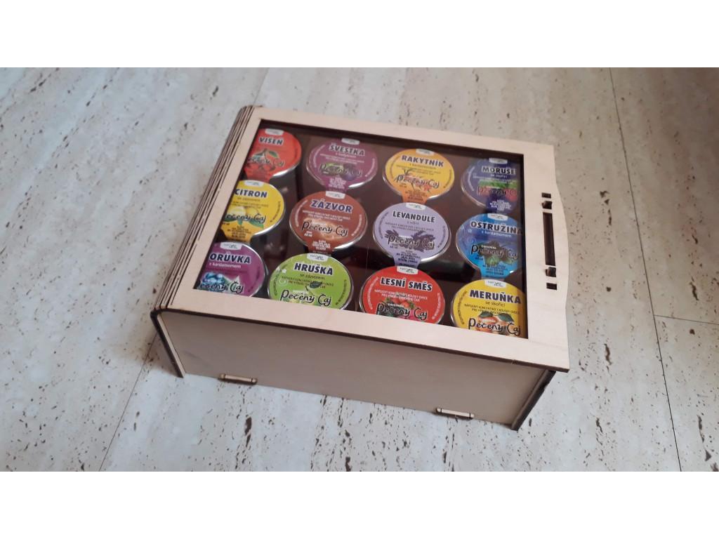 Dárková sada pečené čaje 12 ks v dřevěné krabičce