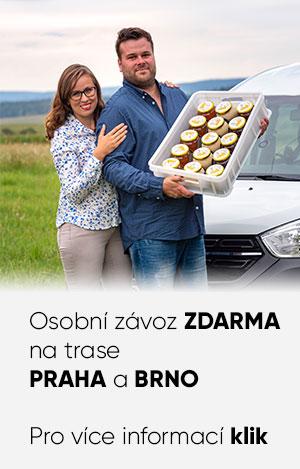 Osobní závoz ZDARMA do Prahy a Brna
