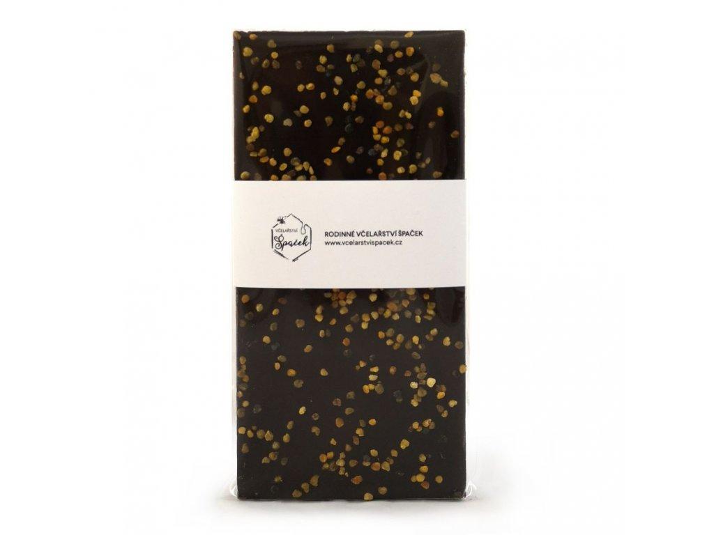 Hořká čokoláda 64% s pylem 85g