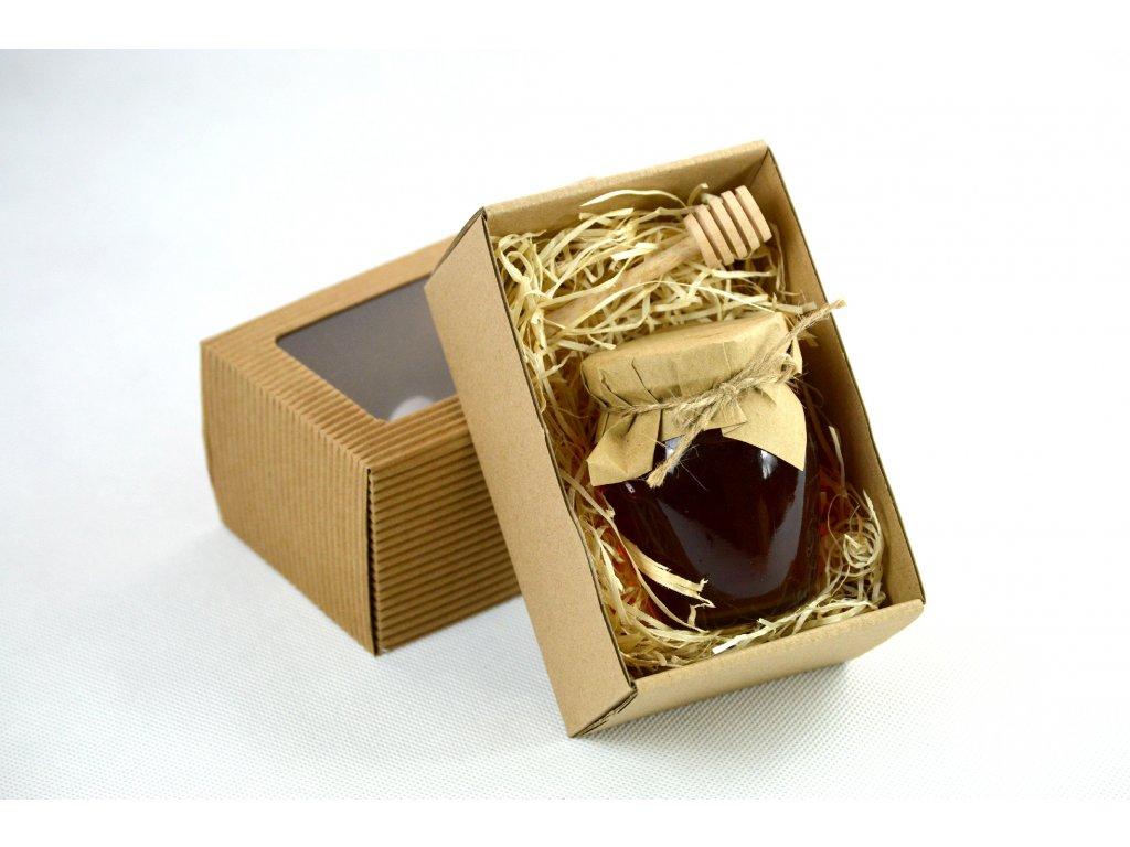 Lesní med 195g v dárkové krabičce s míchátkem