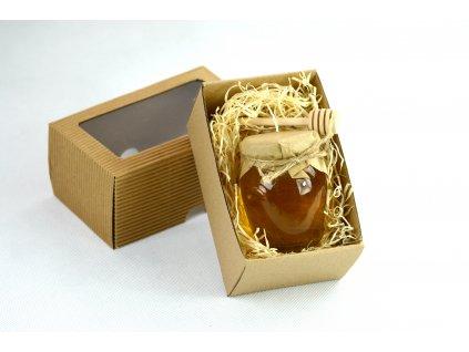 Květový med 195g v dárkové krabičce s míchátkem