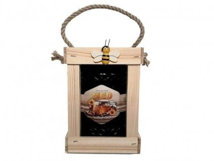 dřevěná dárkovákrabička na 1 med