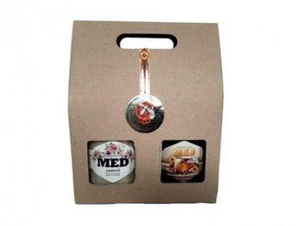 kartonová dárková krabička na 2 medy