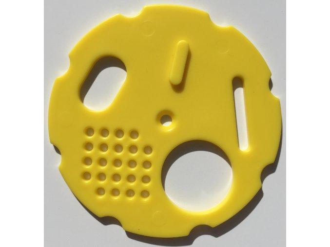 Česnový uzávěr 8 cm - žlutý