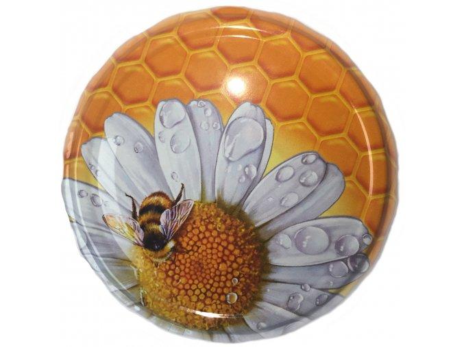 Víčko včelka na květu - TO 82 - Karton