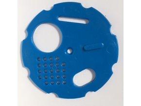 Česnový uzávěr 8 cm - modrý