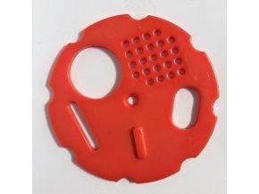 Česnový uzávěr 8 cm - červený