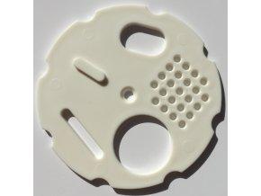 Česnový uzávěr 8 cm - bílý