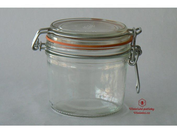 Dárková sklenice na med s gumičkou