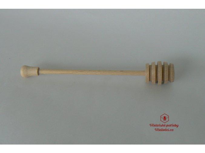 Dřevěná naběračka medu 17,5 cm