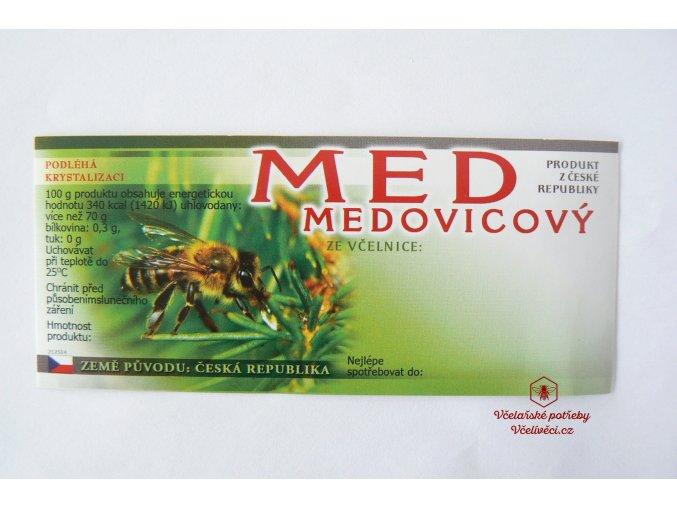 Samolepící etiketa med medovicový