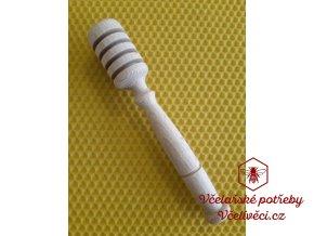 Dřevěná naběračka medu 13,5 cm