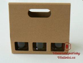 Dárková krabice na med 3x0,25kg