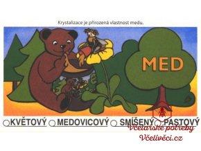 Etiketa univerzální-medvídek