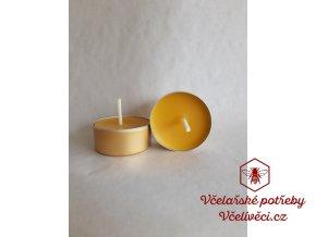 Svíčka v obalu malá zlatá
