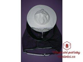 Včelařský klobouk-černý závoj otvíratelný - CZ